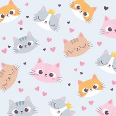 Gatos Wallpapers, Wallpaper Gatos, Cute Wallpapers, Cat Pattern Wallpaper, Cute Cat Wallpaper, Minnie Mouse Stickers, Funny Animals, Cute Animals, Cute Lion