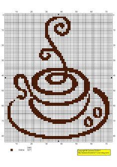 Tasse - Photo de Anciens Free Cuisine - Mes petites croix et moi ! Pixel Art, Cross Stitch Freebies, Mosaic Art, Cross Stitch Patterns, Needlework, Free Pattern, Knit Crochet, Diy And Crafts, Photos