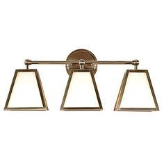 """Target Bathroom Sconces round mirror brass 28"""" - threshold™ : target   accessoires"""