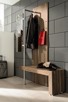 Entryway benches with storage are one of the most practical, attractive and elegant space saving ideas to add comfort to small entryways Entryway Bench Storage, Bench With Storage, Storage Hooks, Entryway Ideas, Hallway Ideas, Entryway Hooks, Entryway Decor, Hallway Unit, Hallway Bench