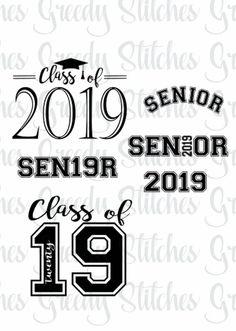 Graduation Class of 2017 2018 2019 2020 Cuttable Design