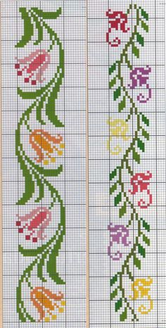 This Pin was discovered by Işı Cross Stitch Bookmarks, Simple Cross Stitch, Cross Stitch Borders, Cross Stitch Rose, Cross Stitch Flowers, Cross Stitch Designs, Cross Stitching, Cross Stitch Embroidery, Cross Stitch Patterns