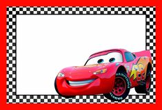 Cars Lightning McQueen Printable Template