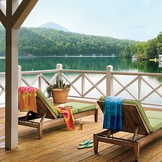 Lakeside cabin makeover: lake house cottage deck < How one couple turned a run-down Georgia lake house, cottage, cabin into the makeover retreat of their dreams. - Southern Living