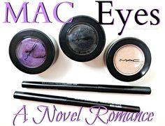 MAC Electric Cool Eye Shadow + Fluidline Eye Pencil Swatches
