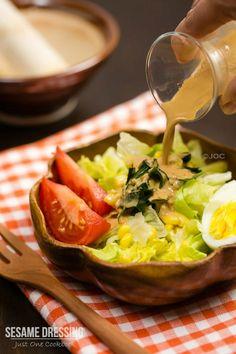 [Japan] Sesame Dressing 胡麻ドレッシング | Easy Japanese Recipes at JustOneCookbook.com | #dressing #sesame
