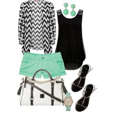 Chevron mint, created by c-michelle on Polyvore