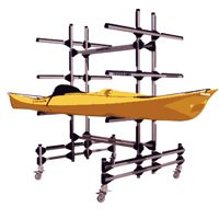 """Canoe and Kayak Storage options, """"Do it yourself """" and manufactured storage and Transportation Canoe options"""