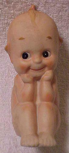 1930'S PORCELAIN KEWPIE DOLL FIGURINE ........The THINKER!  I love kewpie dolls!