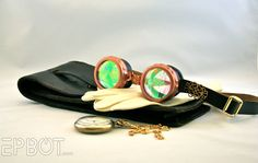 Goggles...Love the womans' site! Everything about it is awesome. Check it out for the best Steam Punk DIY!