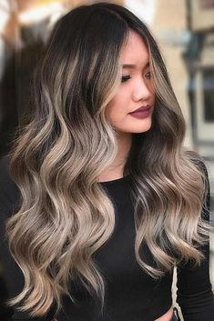 Balayage hair is suitable for light and dark hair, almost all lengths except very short haircuts. Today I want to show you the most gorgeous balayage hair dark color ideas. Balayage has become the biggest trend in recent seasons, and it's not over Blond Ombre, Brown Ombre Hair, Brown Hair Balayage, Brown Blonde Hair, Ombre Hair Color, Light Brown Hair, Hair Color Balayage, Brown Hair Colors, Hair Highlights