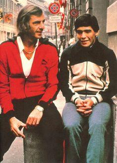 Coach César Luis Menotti and young Maradona #argentina #Maradona