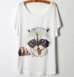 ae4848c1970b Dámské letní tričko s potiskem mýval – trička s potiskem Na tento produkt  se vztahuje nejen