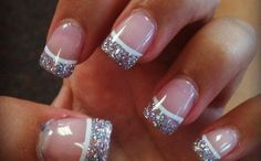 Glitter french tip nails girly cute nails girl nail polish glitter nail pretty girls pretty nails nail art french tips french manicures polish nail designs nail ideas French Manicure Designs, French Tip Nails, Cute Nail Designs, Nails Design, Art Designs, French Manicures, Pedicure Designs, French Manicure With A Twist, Design Ideas