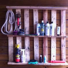I repurposed a pallet for the wash rack area in my barn.