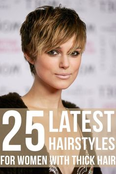 Hair Beauty - This is difficult to decide by anyone except hair experts and stylists. You can consult them before styling your hair and read the follo Short Haircut Thick Hair, Pixie Haircut For Thick Hair, Short Hair Cuts, Short Hair Styles, Short Thick Hairstyles, Thick Hair Haircuts, Medium Hairstyles, Girls Short Haircuts, Pixie Haircuts