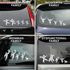 ThinkGeek :: Marvel Superhero Family Car Decals - Awesome, but bummed they don't have real female super heroes.