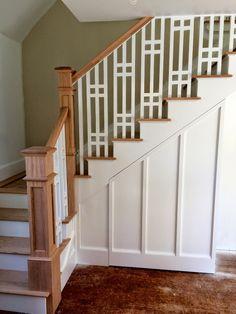 Beautiful craftman style staircase, via SoPo Cottage.