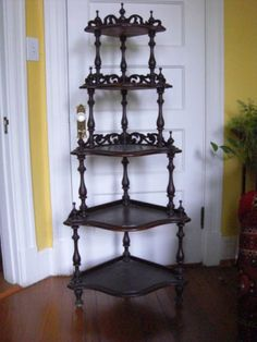 Antique Victorian Rosewood Waterfall Corner Etagere in Antiques, Furniture, Hall Trees & Stands, 1800-1899 | eBay