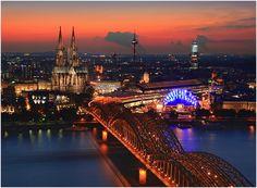 Lights of Cologne by Uwe Müller, via 500px