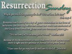 Resurrection Sunday aka Easter 2013