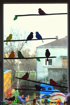 Ptaszki na gałązce - dekoracja okienna  #lubietworzyc #DIY #handmade #howto #preschool #kindergarten #instruction #instrukcja #jakzrobic #krokpokroku #przedszkole #dekoracje #decorations #papercraft #ptaszki #ptaki #bird #window #windowdecoration #spring #wiosna