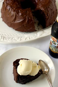 Root beer float cake: two cups root beer in the batter, one cup in the frosting. Must try!