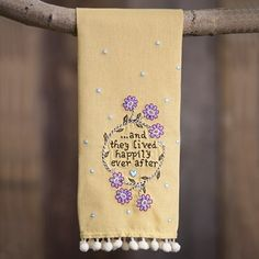 Lived Happily Ever After Linen Hand Towel