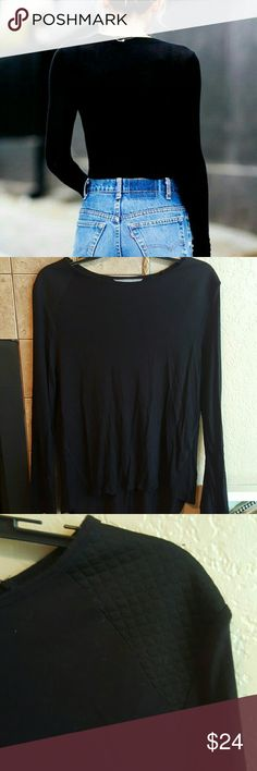 NEW Daisy Fuentes Top High low. High neck Long sleeve. Cotton blend. Shoulder to hem 29in. Essential in your closet! Daisy Fuentes Tops Tees - Long Sleeve