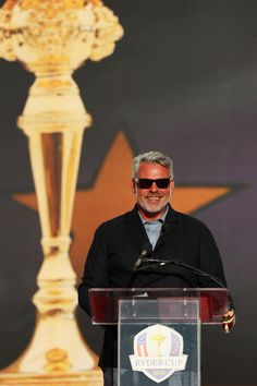 Darren Clarke Photos - Captain Darren Clarke of Europe speaks during closing ceremonies after the singles matches of the 2016 Ryder Cup at Hazeltine National Golf Club on October 2016 in Chaska, Minnesota. Chaska Minnesota, Ryder Cup, October 2, Northern Ireland, Boyfriends, Golf Clubs, Waves, Europe, Northern Ireland County