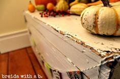 Fall Decor Inspiration:  Vintage Distressed Toolbox breidawithab.com