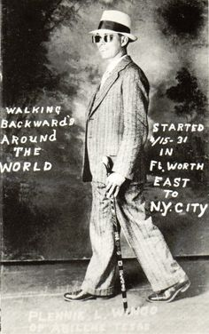Funny old postcard. One way to see the world.Hagins collection.