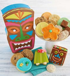 Tiki Head Treats Gift Box | Gifts for Kids | Cheryls.com | What a unique and fun gift to send to friends and family!