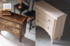 ミニチュア作り : natural色の生活~handmade家具