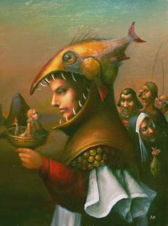 Igor Lazarev  -  Aquarius Brow Artist, Another Man, Pop Surrealism, Mermaid Art, Weird Art, Artist Names, Surreal Art, Mystic, Creatures