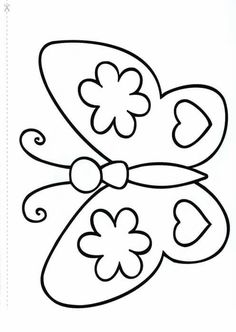 Spring Coloring Pages, Easy Coloring Pages, Coloring Sheets For Kids, Coloring Books, Butterfly Template, Butterfly Pattern, Butterfly Art, Art Drawings For Kids, Drawing For Kids