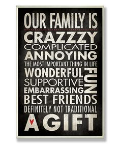 Look at this 'Our Family Is Crazzzy' Wall Art on #zulily today!