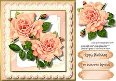Stunning Apricot Roses  on Craftsuprint - Add To Basket!