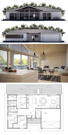 Small House Plan ... So inlove with this layout!!! this is perfect!