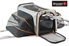 Expandable Airline Approved Pet Travel Carrier For Small Dogs & Cats By Generation 5 Pets  Steel Construction That Prevents Collapsing  Comfortable Carrying Handles  Spacious 2 Side Expansion
