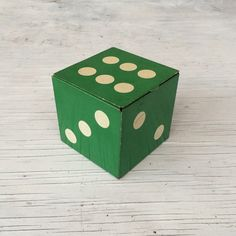 Vintage original Green Dice tin from by VintageCuriosityShop