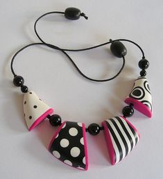Statement Necklace in Polymer Clay by ClaireWallis