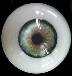 Glass BJD Eyes for Reborn BJD Doll Good Half-Round thin 22MM Blackish green