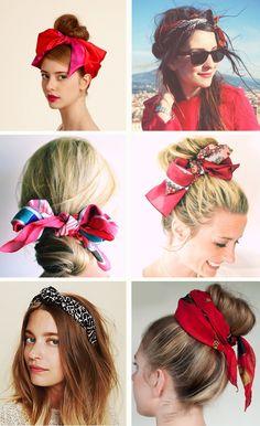 Красиво завязать шарф на голове
