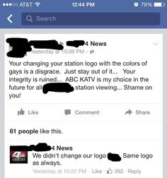 Perfect example of ignorant people finding ANYTHING to be angry about. The logo's basically been the same for over 50 years!