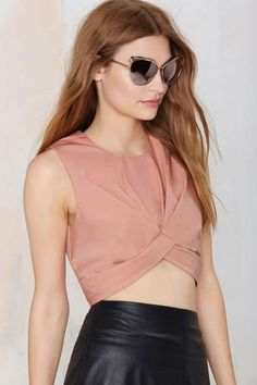 Nasty Gal Knot in Love Crop Top - Cropped | Tops