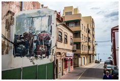 "EMILIO CEREZO  .. ""Transición"" .. for Festival d Arte Urbano Museo del Mar Menor ..  [Los Alcazares, Spain 2016] (1) Urban Art, Spain, Street View, Emilio, World, Cherry Tree, Museums, City Art, Street Art"