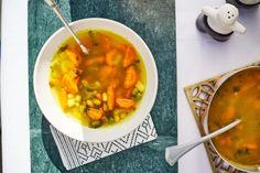 Pikáns zöldségleves gyömbérrel | Street Kitchen Chana Masala, Soup, Ethnic Recipes, Turmeric, Soups