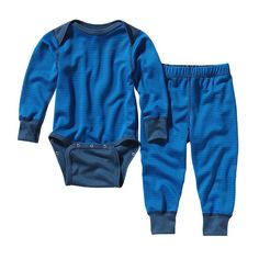 568a6f321a6fa9 Patagonia Baby Capilene u00AE 3 Midweight Set - Pico Stripe  Andes Blue  Glass