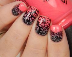 Something like this for Flower Power? East Coast Style, Flower Plates, Nail Stamping, All Things Beauty, Uber, Pedi, How To Do Nails, Nail Ideas, Flower Power